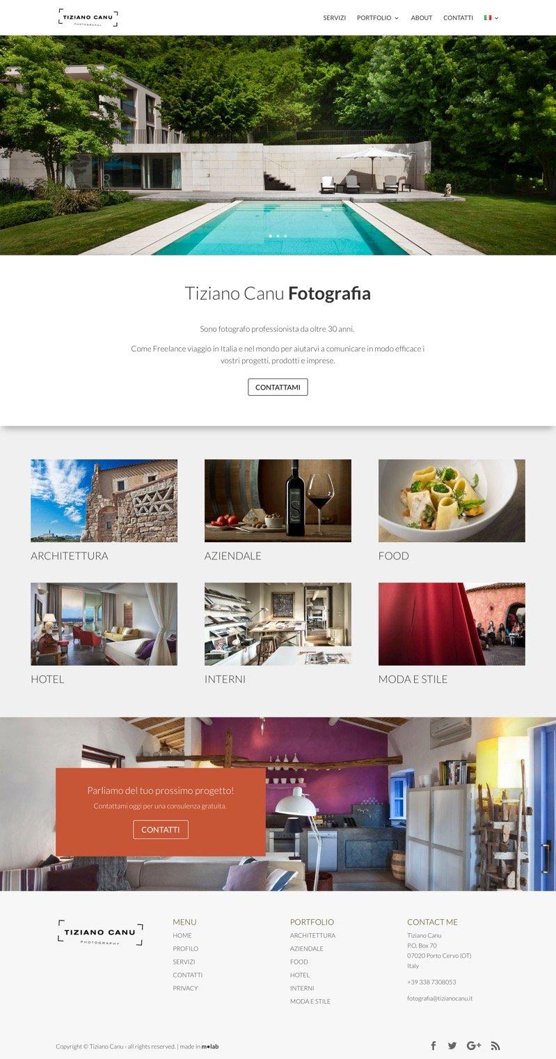 schermata del sito TizianoCanu.it