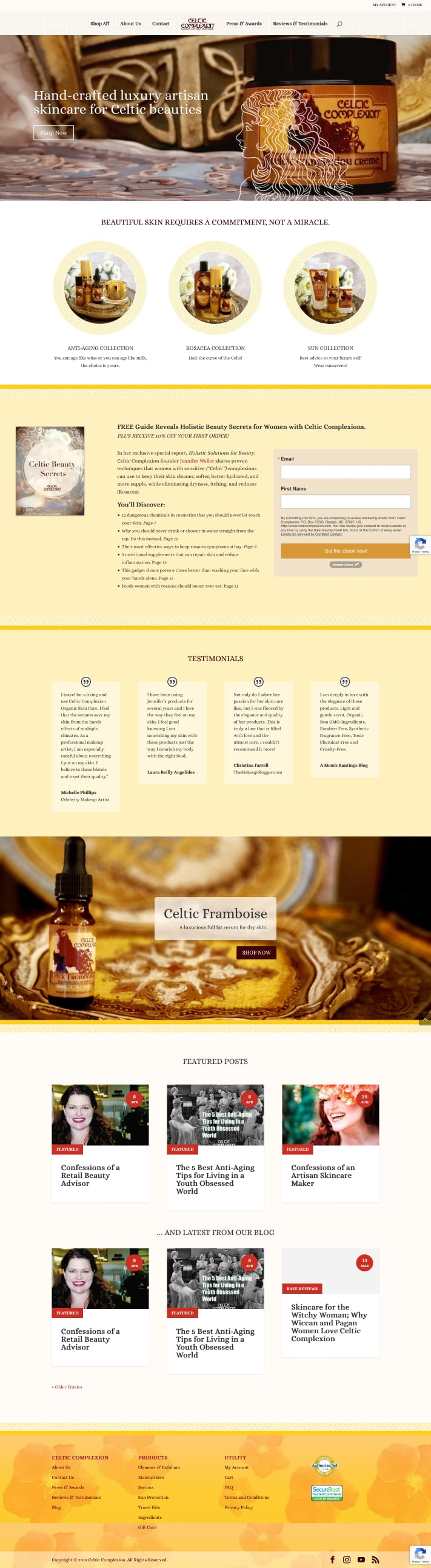 Celtic Complexion - Luxury Artisan Skin Care homepage