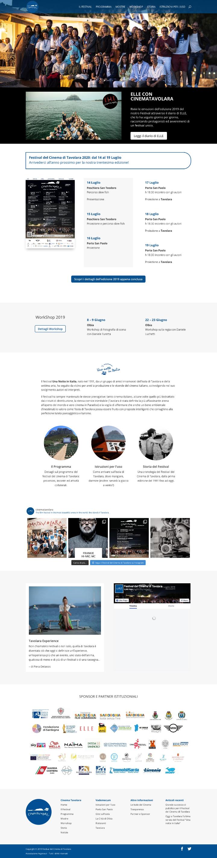 Festival del Cinema di Tavolara homepage screenshot