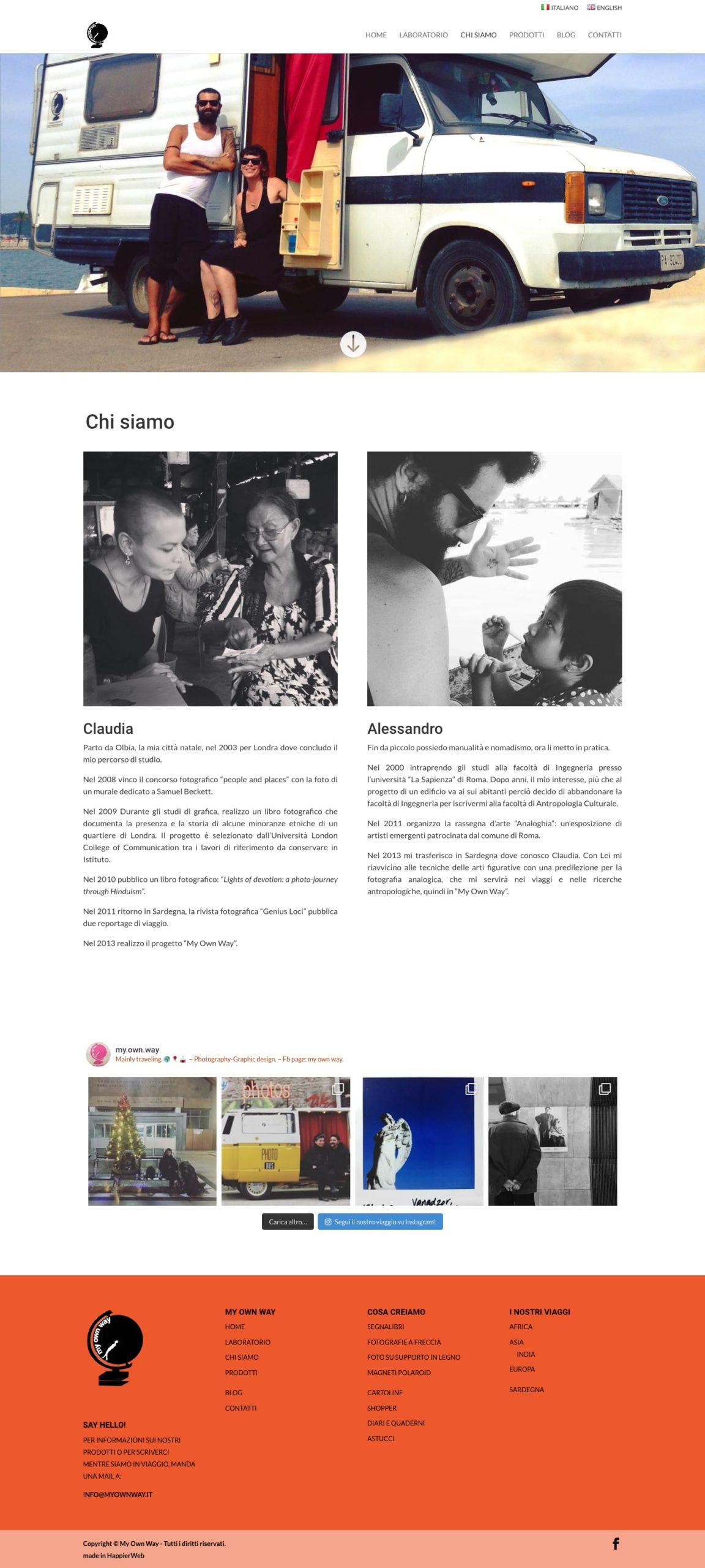 My Own Way chi siamo profilo Claudia e Alessandro