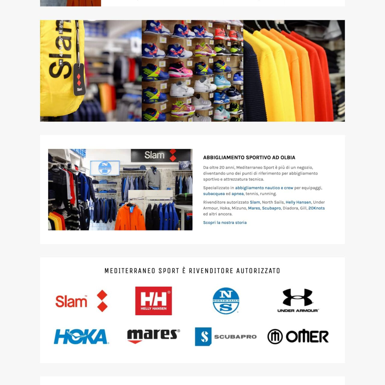 Dettaglio e-commerce Mediterraneo Sport
