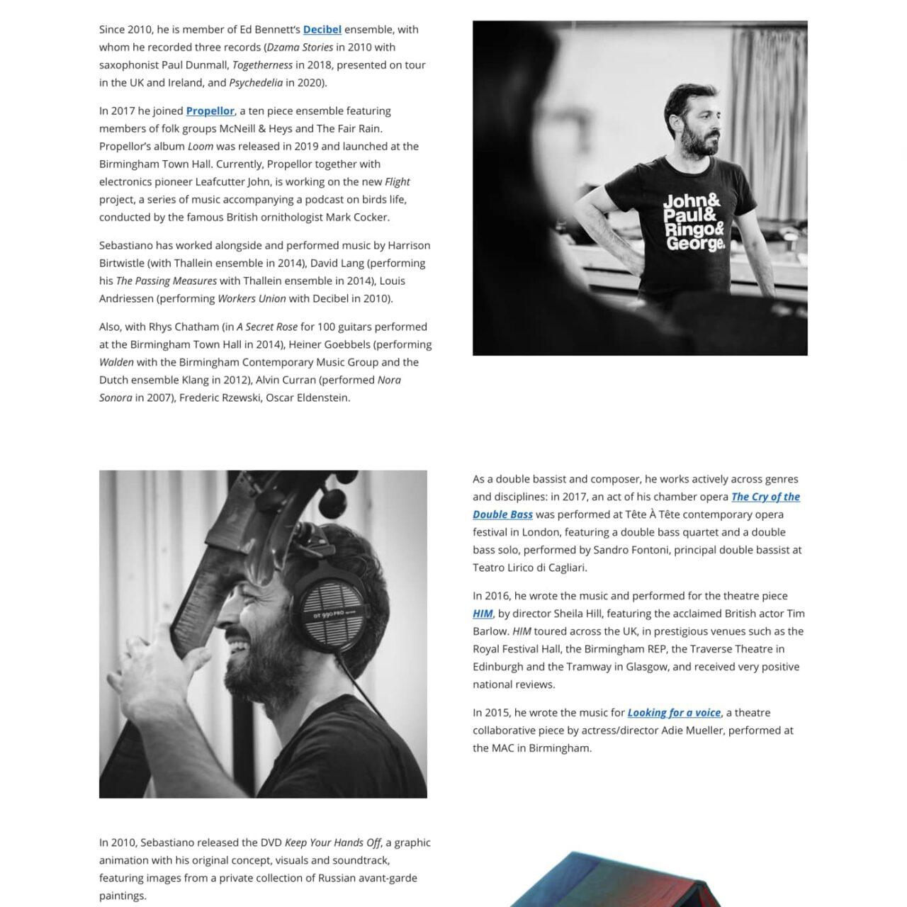 dettagli sito Sebastiano Dessanay