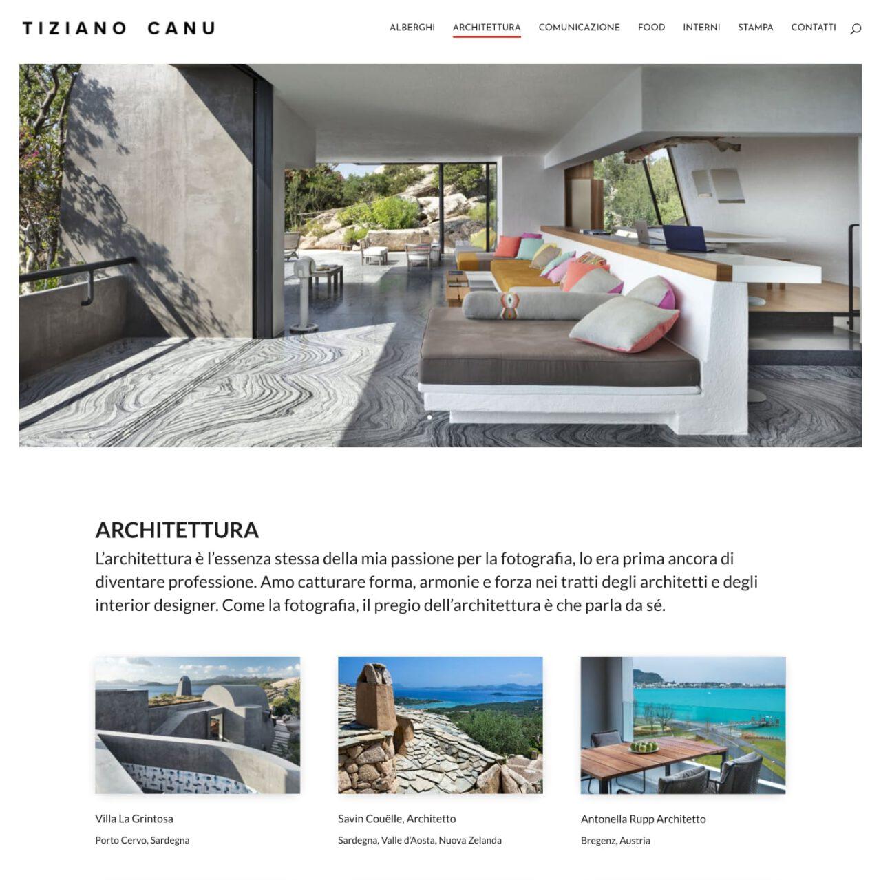 Tiziano Canu Fotografia: sezione Architettura
