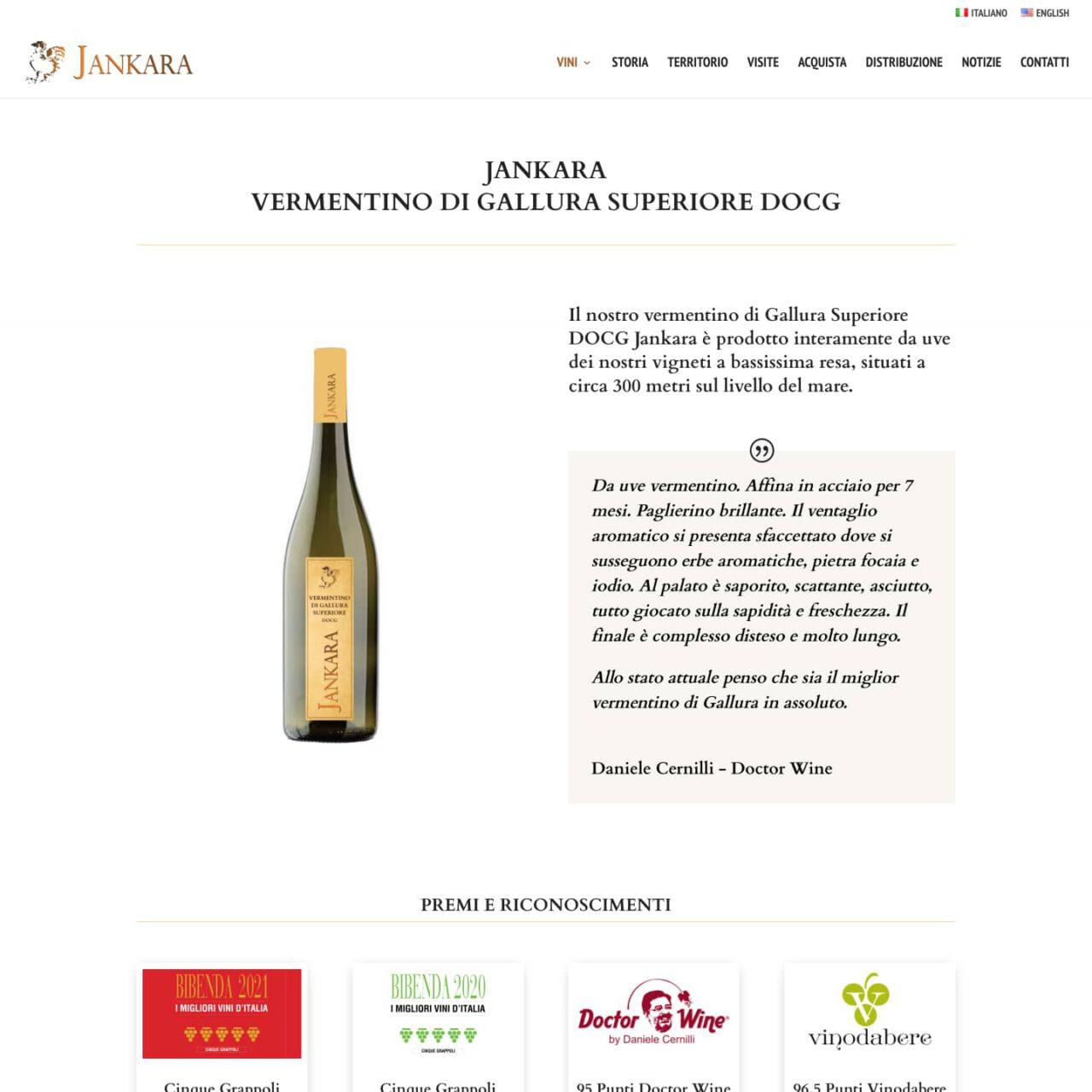 dettaglio sito Vini Jankara